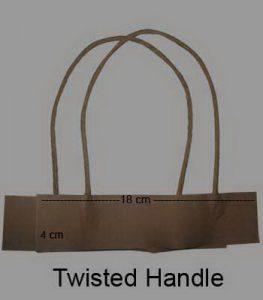 Twisted Handle coklat (18 x 4 x 32 cm)